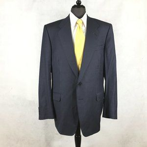 Canali dark blue Glen Plaid wool Italian blazer